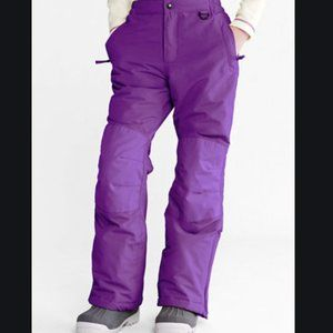Lands End Girls Purple Squall Snow Pants Iron Knee